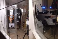 Tienda de moda Garbo de Burriana la madrugada de Nochebuena, cuando fue asaltada.