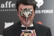 Javier Rey en los Premios Feroz del pasado año