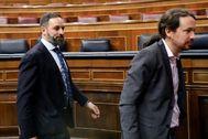 Santiago Abascal y Pablo Iglesias, el 4 de enero en el Congreso