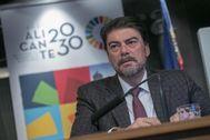 El alcalde de Alicante, Luis Barcala (PP), en imagen de archivo.