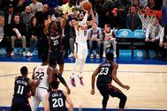 Suspensión de Rubio durante el partido ante los Knicks.
