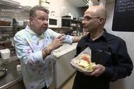 Alberto Chicote y Karim, dueño de El Tigris, en Pesadilla en la cocina, emitido el 16 de enero.
