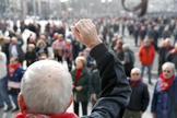 Un grupo de pensionistas vascos se manifiestan el pasado lunes en Bilbao.