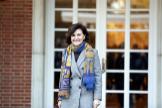 Carmen Calvo, esta semana, en el Palacio de la Moncloa.