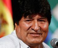 El ex presidente de Bolivia Evo Morales, en Buenos Aires.
