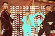 Los Jonas Brothers en la portada de What A Man Gotta Do, su nuevo single
