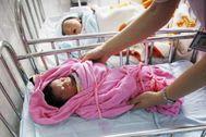 Bebé de origen chino nacido en un hospital del país.