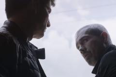 El actor Jorge Navarro (a la derecha), durante un capítulo de Sin Miedo a la Verdad