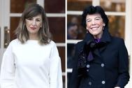 La ministra de Trabajo, Yolanda Díaz, y la de Educación, Isabel Celaá.