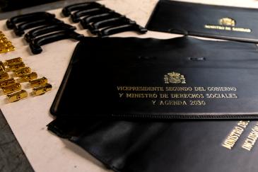 Frontal de la cartera de Pablo iglesias que fue desechado.
