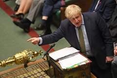 Johnson, esta semana en la Casa de los Comunes.