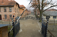 An aerial picture showes barracks and buildings of former Nazi German <HIT>Auschwitz</HIT> I concentration camp complex