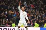 Casemiro celebra la victoria del Madrid.