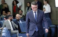 Iván Redondo, el pasado martes en la sala donde se celebró la rueda de prensa tras el primer Consejo de Ministros del nuevo Gobierno de Pedro Sánchez.