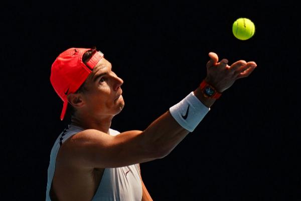 Melbourne (Australia).- Rafael <HIT>Nadal</HIT> of Spain takes part in...