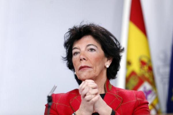 La ministra de Educación y Formación Profesional, Isabel Celaá.