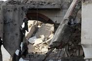 Destrozos tras un reciente ataque hutí en Yemen.