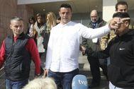 David Serrano, acusado de homicidio imprudente en el caso Julen, en los juzgados de Málaga.