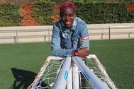 Asisat Oshoala, en la ciudad deportiva Joan Gamper.
