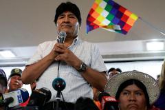 Evo Morales, durante la