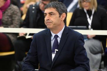 Josep Lluís Trapero, durante el juicio en la Audiencia Nacional.