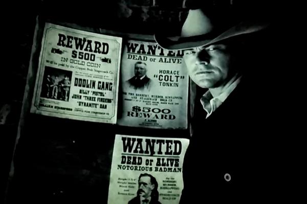 Leonardo DiCaprio, en la serie ficticia 'Bounty Law' de 'Érase una vez en... Hollywood'.