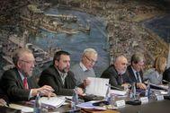 Imagen de la reunión, este lunes, del Consejo de Administración de la APV,