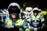 Los motoristas de la Guardia Civil piden chaquetas con airbag