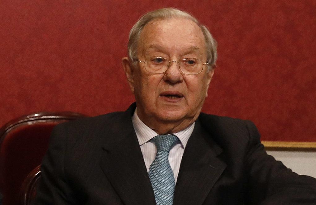 Raúl Morodo, en un acto por los 40 años de democracia en España.
