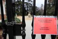 Acceso a la quinta de la Fuente del Berro cerrado al público el domingo y el lunes ante la alerta de vientos fuertes.
