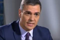 Pedro Sánchez, durante la entrevista en TVE.