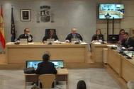 Declaración del mayor Trapero ante el tribunal, presidido por Concepción Espejel.