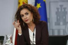 La ministra de Hacienda, María Jesús Montero, en la rueda de prensa de ayer posterior al Consejo de Ministros.