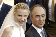 Rafael del Pino y Astrid Gil Casares, el día de su boda (2006).