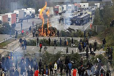 Barricadas en La Jonquera.