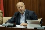 El consejero de Educación, Javier Imbroda, durante una comparecencia.