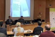 Valentín Bote, director de Randstad Research, este martes en una charla en Castellón.