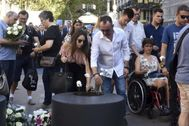 Homenaje a las víctimas del 17-A el pasado agosto.