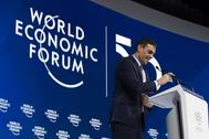 El presidente del Gobierno, Pedro Sánchez, en el foro económico de Davos.