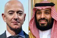 El fundador de Amazon, Jeff Bezos, y el príncipe  saudí, Mohammed bin Salman.