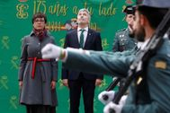 María Gámez y Fernando Grande-Marlaska, durante la toma de posesión de la nueva directora general de la Guardia Civil.