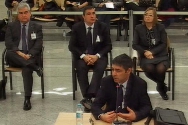 Josep Lluís Trapero, durante su declaración en la segunda jornada...