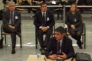 Josep Lluís Trapero, durante su declaración en la segunda jornada del juicio.
