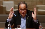 El presidente de la Generalitat, Quim Torra, en una reunión del Govern.