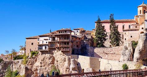 Vista de las emblemáticas casas de la ciudad.
