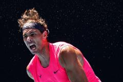 -FOTODELDÍA- EPA6401. MELBOURNE (AUSTRALIA).- El tenista español Rafa <HIT>Nadal</HIT>, durante su partido de primera ronda contra el boliviano Hugo Dellien, este martes durante el Gran Abierto de Australia, en Melbourne.