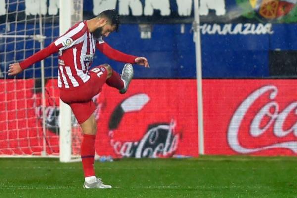Felipe Augusto en un partido del Atlético de Madrid