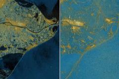 El  Delta del Ebro, prácticamente desaparecido bajo las aguas tras el temporal