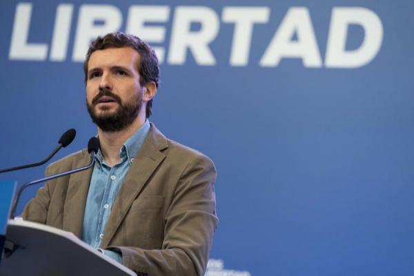 Pablo Casado, en un acto del PP en Murcia.