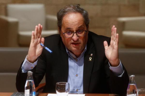 Quim Torra responde al Supremo: «Soy diputado y president, no me echaré atrás»